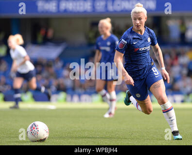 Fulham, UK. 08th Sep, 2019. Bethany England of Chelsea Women in action during the Barclays Women's Super League match between Chelsea Women and of Tottenham Hotspur Women at Stamford Bridge in London, UK - 8th September 2019 Credit: Action Foto Sport/Alamy Live News - Stock Photo