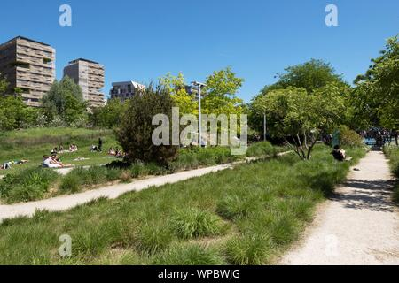 Paris, Parc Martin Luther King, Stadtentwicklungsgebiet Clichy-Batignolles