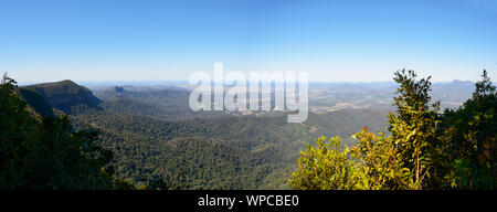 Scenic Panoramic view of Springbrook National Park, World Heritage Area, Gold Coast Hinterland, Queensland, QLD, Australia - Stock Photo