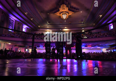 London, UK. 08th Sep, 2019. Troxy, London, England; UCMMA 60; Awaiting the next bout - Editorial Use Only. Credit: Action Plus Sports Images/Alamy Live News - Stock Photo