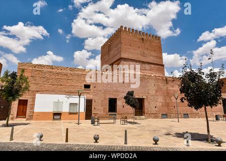 Medieval Castle Pilas Bonas, in Manzanares, Ciudad Real - Stock Photo