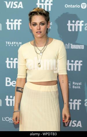 Kristen Stewart arrives for the press conference of 'The Aeronauts' during the 44th Toronto International Film Festival, tiff, at in Toronto, Canada, on 08 September 2019. | usage worldwide - Stock Photo