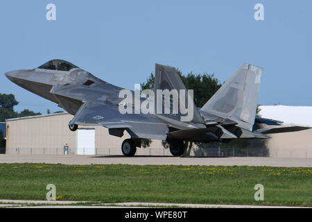 LOCKHEED MARTIN F-22A RAPTOR STEALTH FIGHTER OF THE U.S. AIR FORCE. - Stock Photo