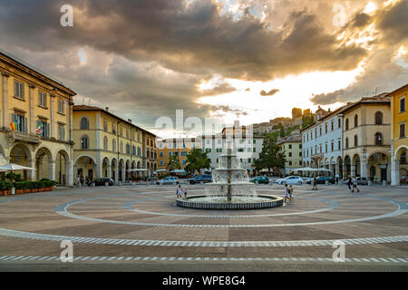 Arnolfo Di Cambio square, Colle Val D'elsa - Stock Photo