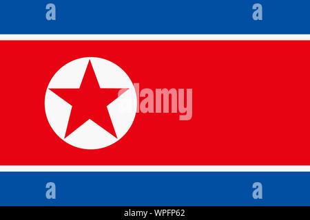 A Democratic People's Republic of Korea North flag background illustration large file - Stock Photo