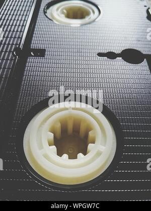 Full Frame Shot Of Videocassette - Stock Photo