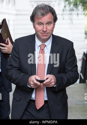 Downing Street, London, UK. 7th September, 2015. Ministers movements in Downing Street today. Pictured: Minister for Government Policy, Chancellor of - Stock Photo