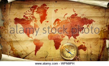 Digital Old World Map Printable Download. Vintage World Map. PRINTABLE Map. Large World Map. High Resolution World Map. Poster - Stock Photo