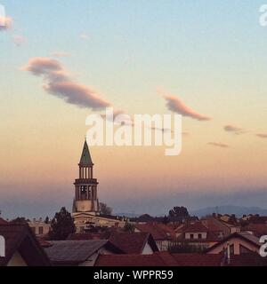 High Angle View Of Saint Francis Of Assisi Church Against Sky - Stock Photo