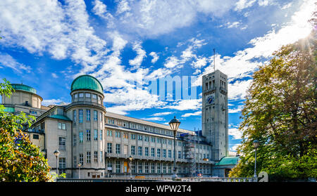 German Museum - Deutsches Museum - in Munich, Germany, the world's largest museum of science and technology - Stock Photo