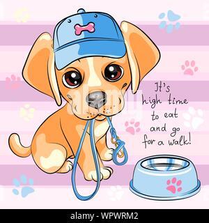 Puppy dog Labrador Retriever - Stock Photo