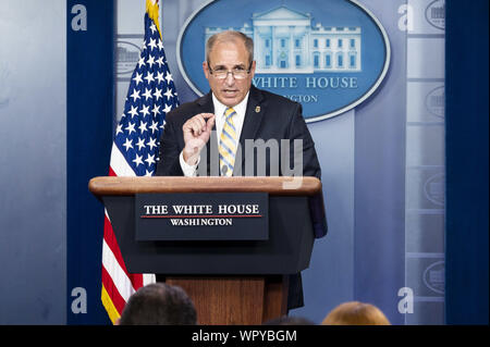 Washington, DC, USA. 9th Sep, 2019. September 9, 2019 - Washington, DC, United States: Acting Commissioner of Customs and Border Protection (CBP) MARK MORGAN speaking at the White House. Credit: Michael Brochstein/ZUMA Wire/Alamy Live News - Stock Photo
