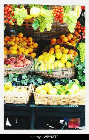 View Of Fruit Stall - Stock Photo