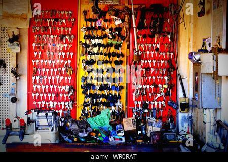 Inside Locksmith's Shop - Stock Photo