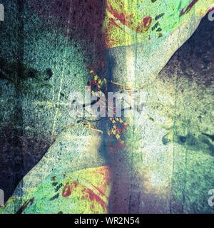 Directly Above Shot Of Graffiti On Street - Stock Photo
