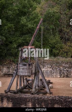 Trebuchet, Chateau de Castelnaud-la-Chapelle - Stock Photo