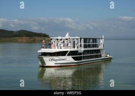 Boat cruise, Pongolapoort Dam, South Africa - Stock Photo