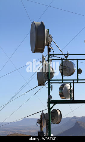 Communication tower, South Africa - Stock Photo