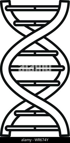Alzheimer dna disease icon. Outline alzheimer dna disease vector icon for web design isolated on white background - Stock Photo