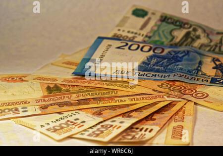 Photo ruble, five thousand rubles - Stock Photo
