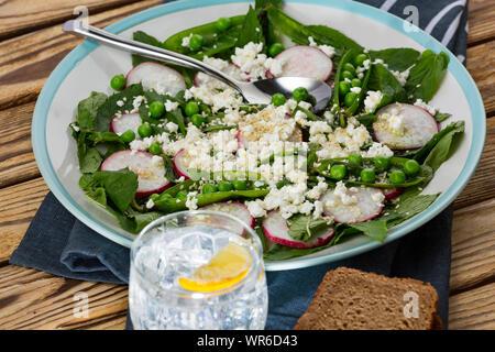 avocado, sheet pan, sugar snap peas, fennel, cucumber salad, beet salad recipe, beet salad recipe, quinoa salad, fennel radish - Stock Photo