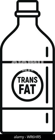 Fat bottle milk icon. Outline fat bottle milk vector icon for web design isolated on white background - Stock Photo