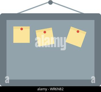 Office board icon. Flat illustration of office board vector icon for web design - Stock Photo