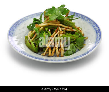 chinese Zhe'ergen salad,  fish mint root salad,  guizhou cuisine - Stock Photo