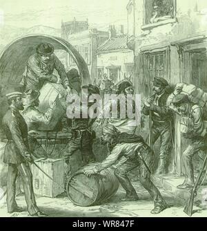 Spanish Civil War Cartagena insurgents at Torrevieja 1st Spanish Republic 1873 - Stock Photo