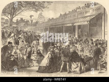 The Zoological Society's Gardens, Regent's Park, on Whit Monday. London 1866 - Stock Photo