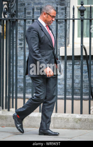 Westminster, London, UK. 10th Sep 2019. James Cleverly, Conservative Party Chairman. Ministers leave the Cabinet Meeting at Downing Street. Credit: Imageplotter/Alamy Live News - Stock Photo