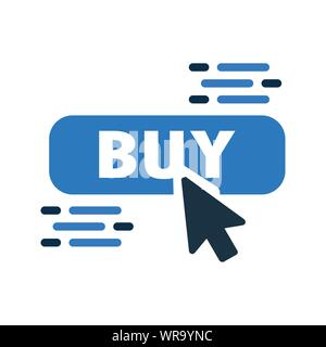 Beautiful design and fully editable Buy Online, Online Shopping Icon for commercial, print media, web or any type of design projects. - Stock Photo