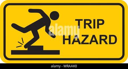 trip hazard sign vector - Stock Photo