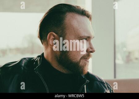 Close-up Portrait Of A Man - Stock Photo