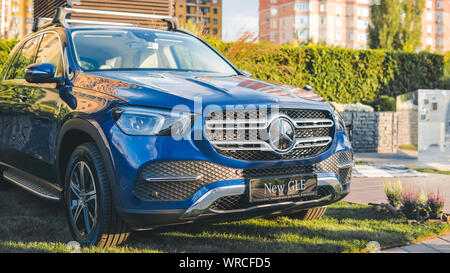 09.05.2019 - Kyiv, Ukraine: Presentation of new car mersedes, outdoors - Stock Photo