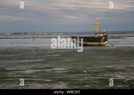 Thames Estuary from Leigh on Sea - Stock Photo