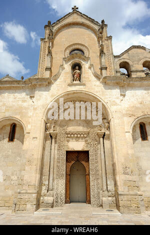 italy, basilicata, matera, church of san giovanni battista - Stock Photo