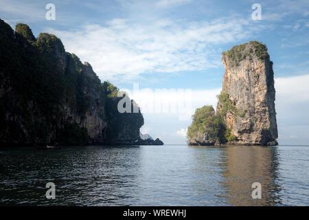 Thailand's private beach, with stunning views of the cliffs. Krabi Province. Centara Grand Beach Resort - Stock Photo
