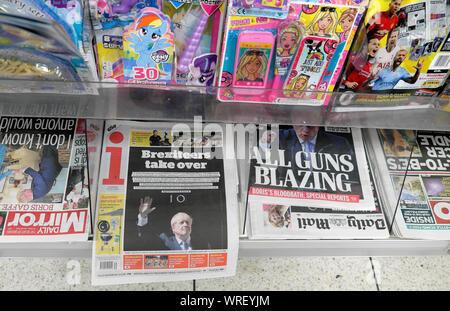 i newspaper headline 'Brexiteers take over' 25 July 2019 London Great Britain United Kingdom UK - Stock Photo