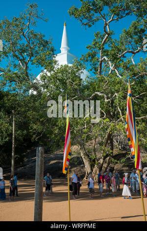 Maha Stupa at Mihintale, Sri Lanka, Asia - Stock Photo