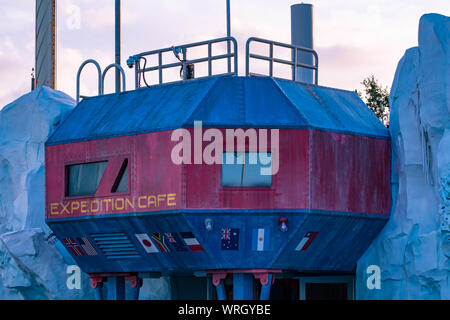 Orlando, Florida. August 31, 2019. Top view of Expedition Cafe at Seaworld - Stock Photo