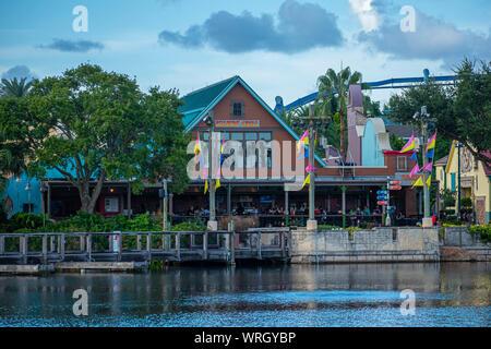 Orlando, Florida. August 31, 2019. Seafire Grill at Seaworld - Stock Photo