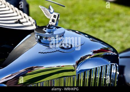 1938 Bentley 4 1/4 litre pillarless saloon on show at the 2019 Concours D'Elegance at Blenheim Palace on the 8th September 2019 - Stock Photo