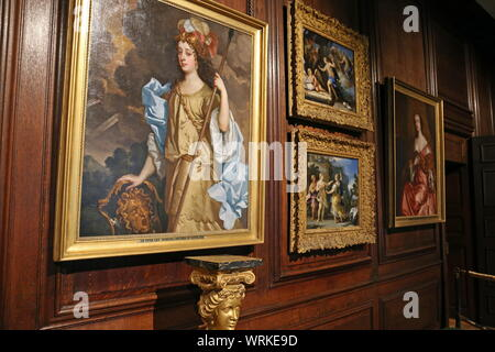 Barbara Villiers by Sir Peter Lely, Communication Gallery, Hampton Court Palace, East Molesey, Surrey, England, Great Britain, UK, Europe - Stock Photo