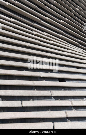 Concrete Panels on a Side Section of the V&A Museum in Dundee - Stock Photo