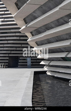 The Riverside Walk in Dundee Where it Passes Under the V&A Museum - Stock Photo