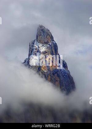 The beautiful peak of Cimone della Pala (pale di San Martino) - Stock Photo
