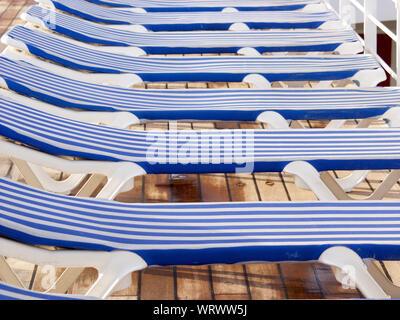 Terrific Row Of Blue Chairs On Deck Of Ship In Seattle Stock Photo Creativecarmelina Interior Chair Design Creativecarmelinacom