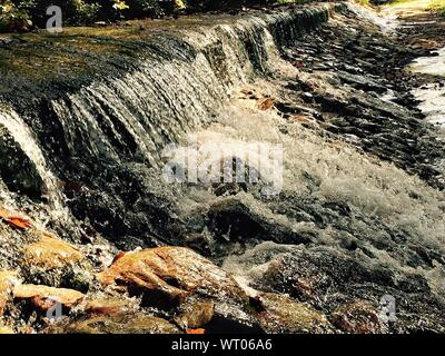 Close Up Of Small Waterfall