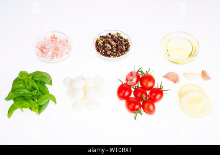 Set of products for making caprese. Studio Photo - Stock Photo